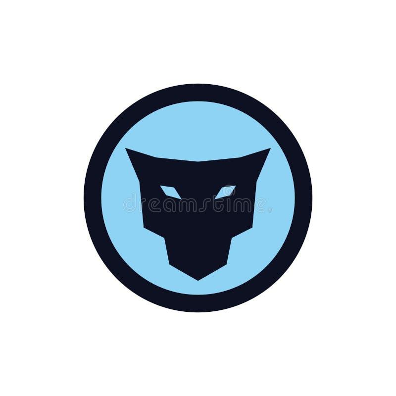 Concepto principal del logotipo del icono del jaguar stock de ilustración