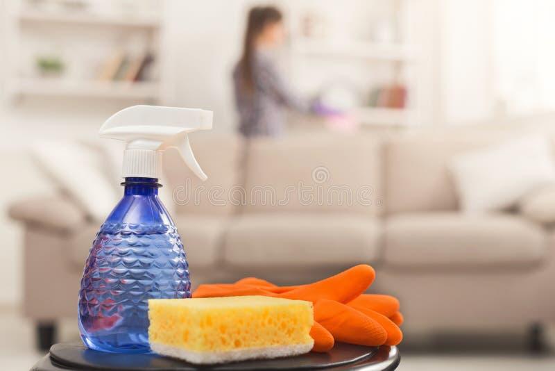 Concepto profesional del servicio de la limpieza, imagen de archivo libre de regalías