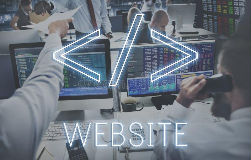 Concepto programado de la globalización de la tecnología de la codificación del sitio web fotografía de archivo