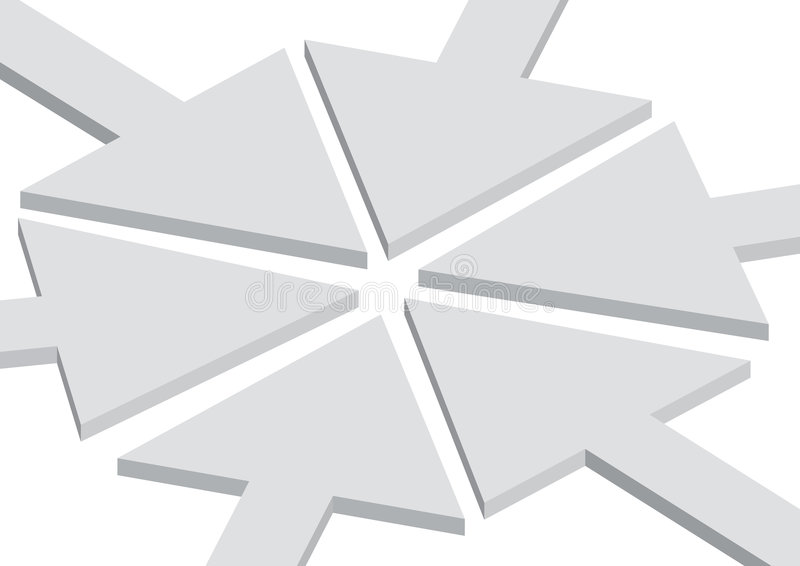 Concepto que ensambla de la flecha stock de ilustración