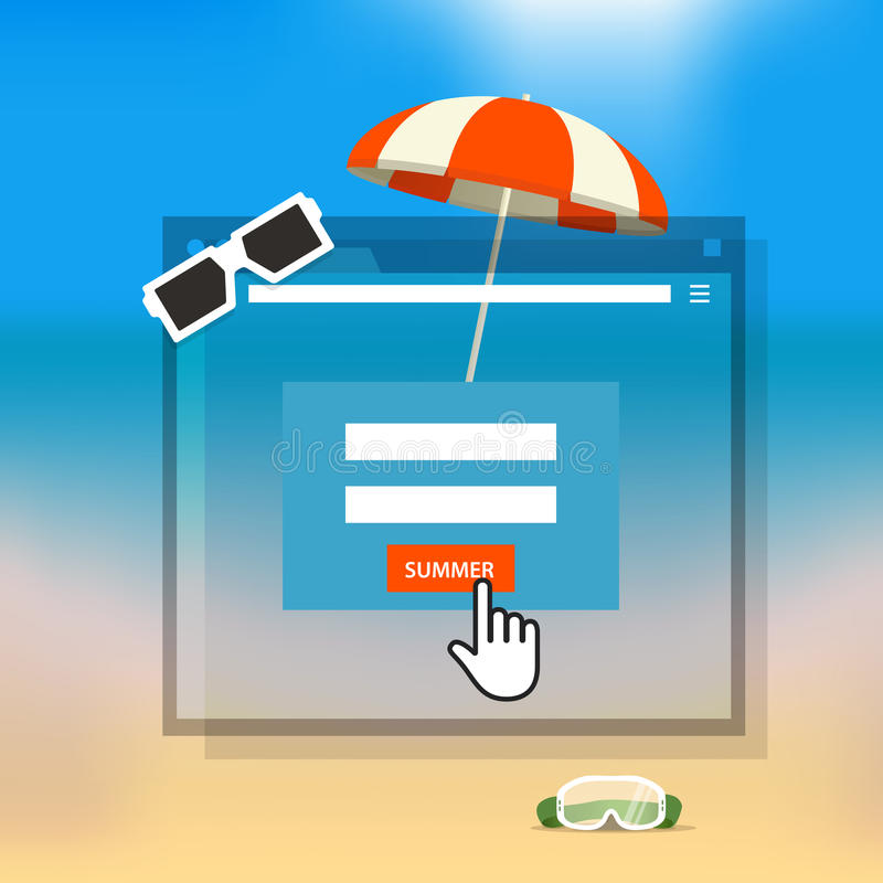 Download Concepto Que Viaja De Las Vacaciones Ilustración del Vector - Ilustración de icono, playa: 42441477