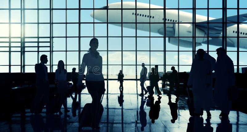 Concepto que viaja del pasajero del viajero del aeropuerto internacional imágenes de archivo libres de regalías
