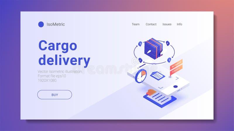 Concepto rápido de los servicios y del comercio electrónico de entrega libre illustration