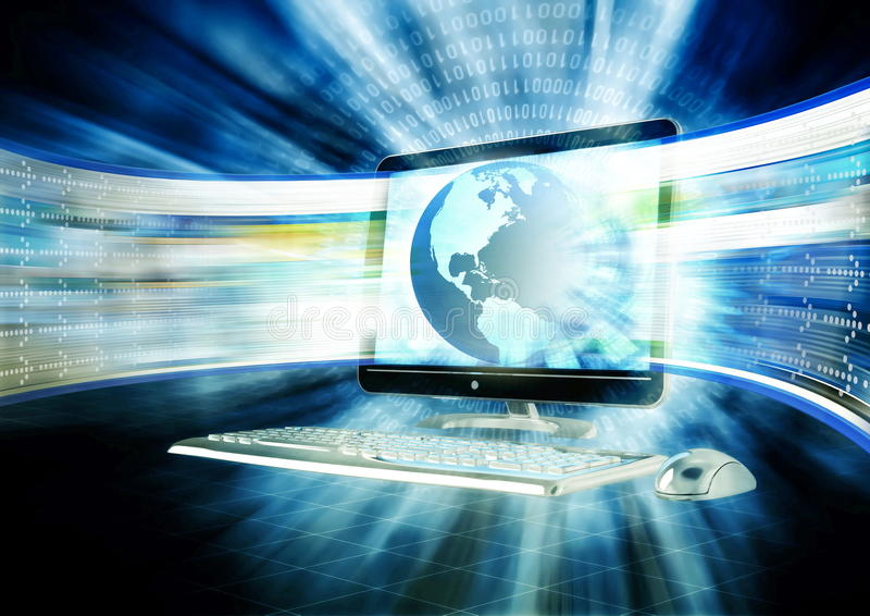 Concepto rápido del Internet stock de ilustración