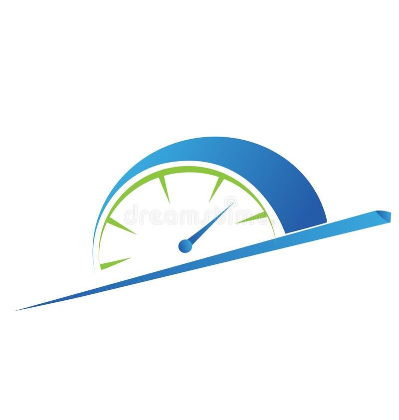 Concepto rápido del tiempo, logotipo de la hora punta, icono de la sesión de formación stock de ilustración