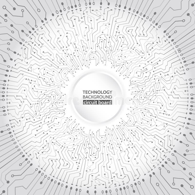 Concepto radial abstracto de la textura del circuito stock de ilustración