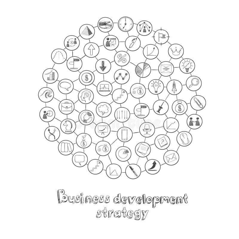 Concepto redondo del desarrollo de negocios libre illustration
