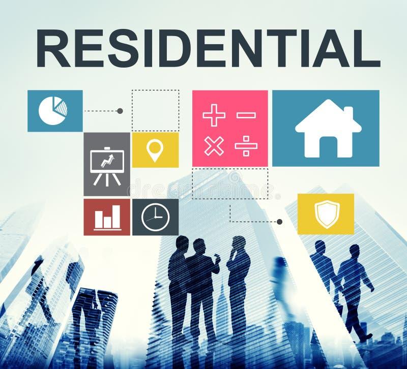 Concepto residencial de la carta de la casa de inversión de la propiedad imagen de archivo libre de regalías