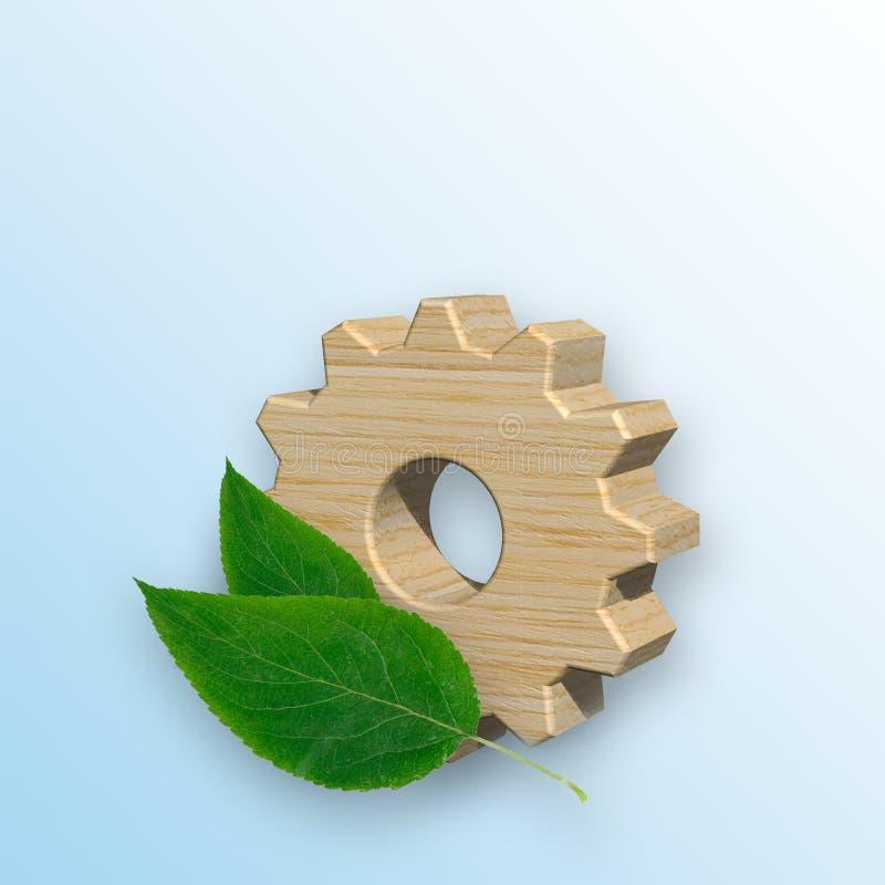 Concepto respetuoso del medio ambiente de la producción ilustración del vector