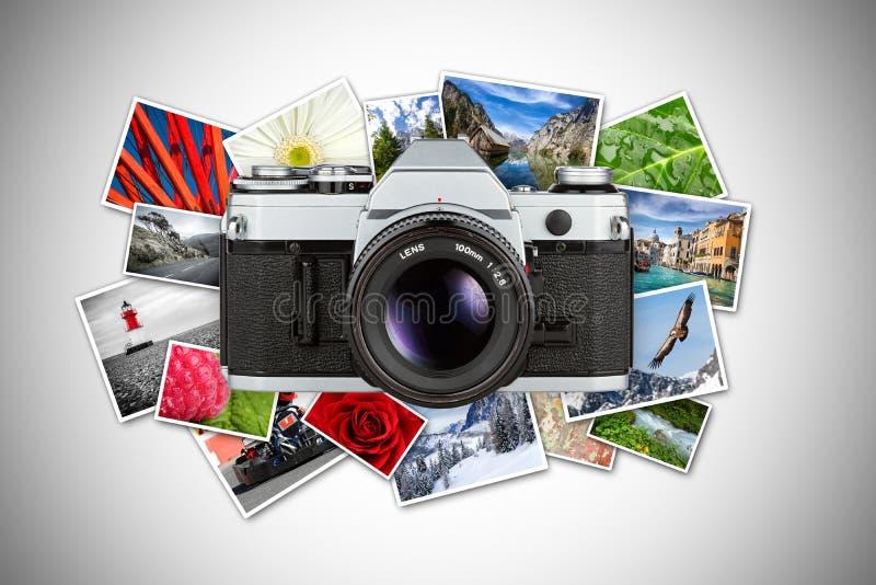 Concepto retro de Dslr fotografía de archivo libre de regalías