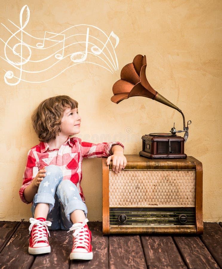 Concepto retro de la música imagen de archivo
