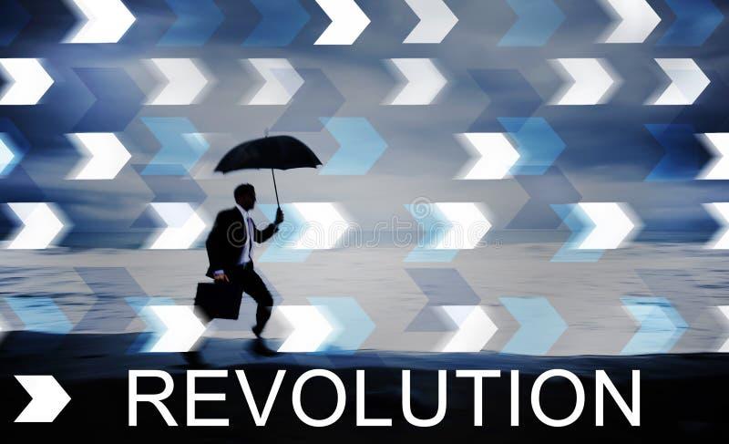 Concepto revolucionario de la innovación de la revolución imágenes de archivo libres de regalías