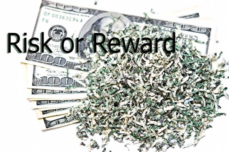 Concepto/riesgo o recompensa financiero imagen de archivo