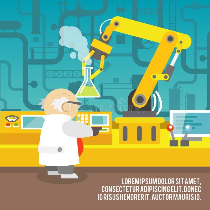Concepto robótico del brazo ilustración del vector