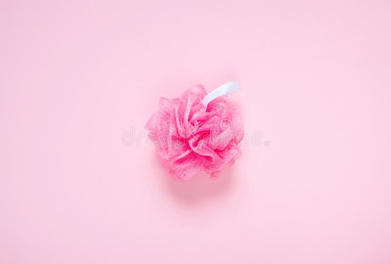 Concepto rosado del BALNEARIO de Bast Bathroom Accessories de la brizna foto de archivo