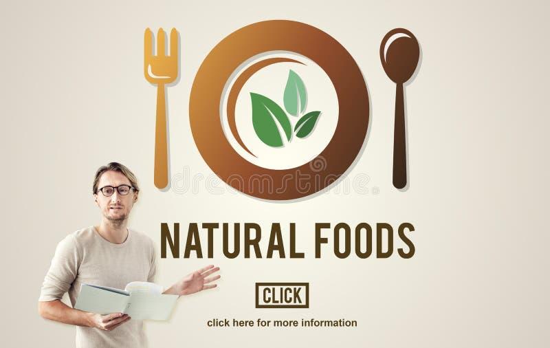 Concepto sano orgánico de la salud de la comida natural ilustración del vector