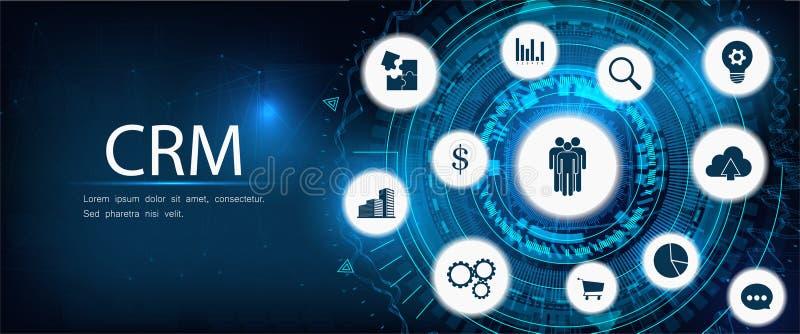 Concepto, servicio de atención al cliente y relación de CRM libre illustration