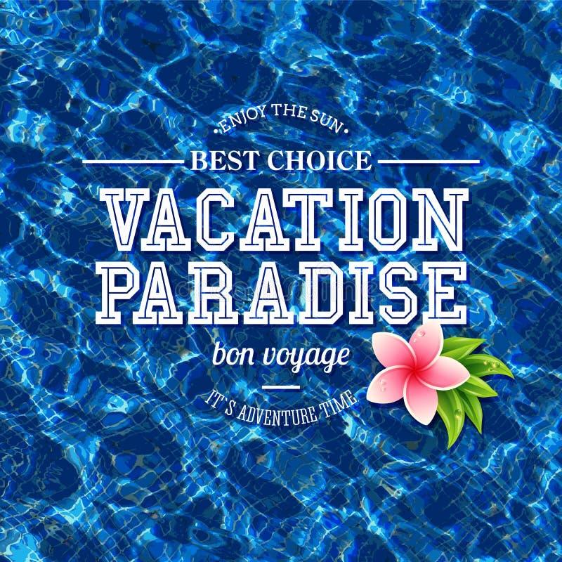 Concepto simple del paraíso de las vacaciones libre illustration