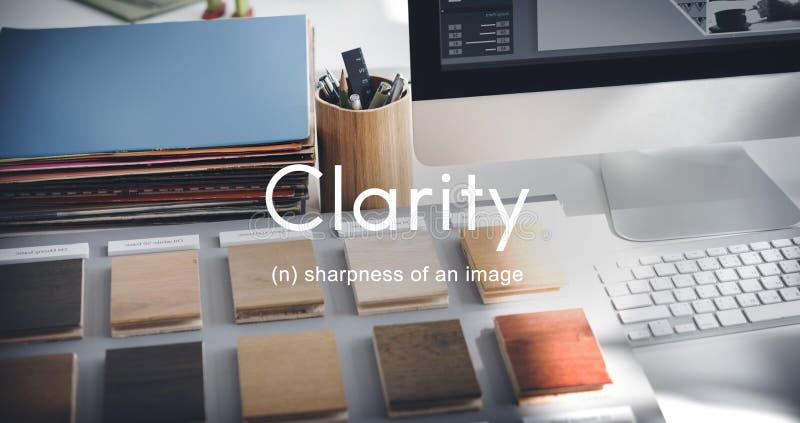 Concepto simple visible de la creatividad del claro del diseño de la claridad fotos de archivo