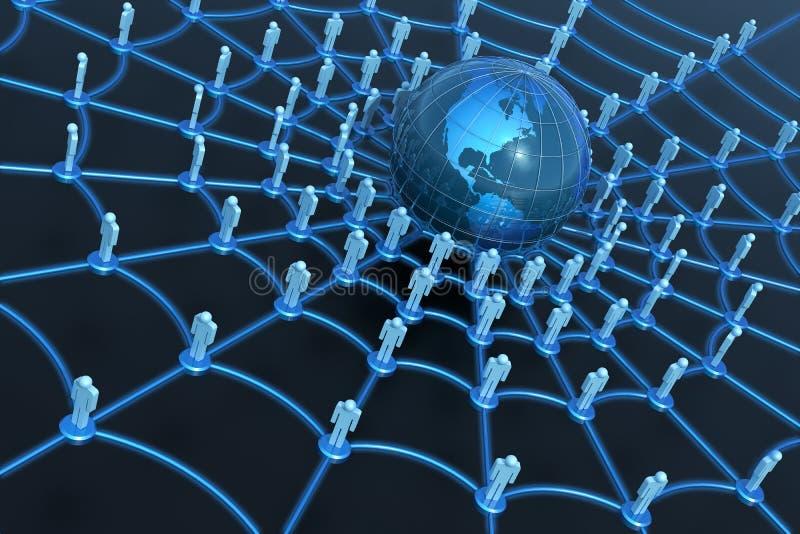 Concepto social de la red ilustración del vector