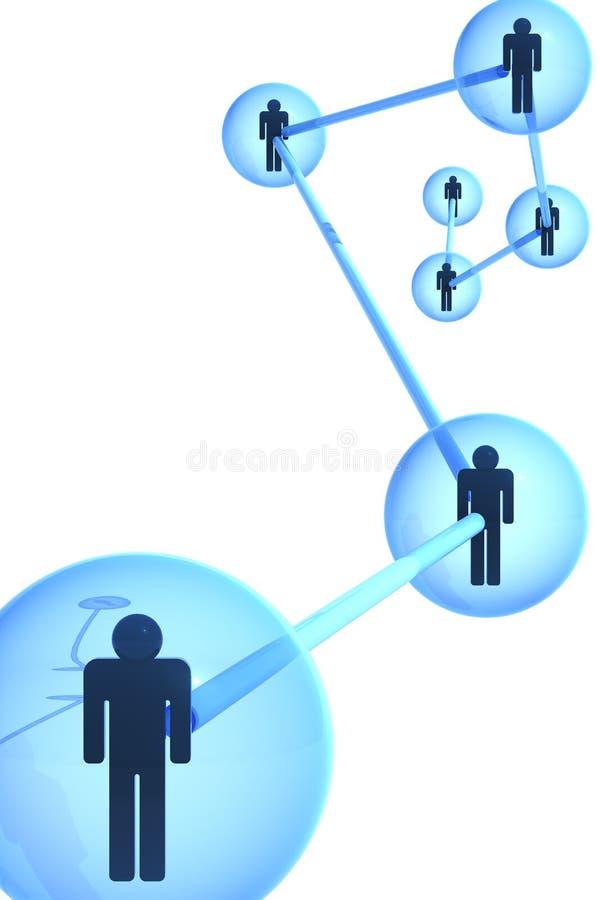 Concepto social de la red. Versión blanca. libre illustration