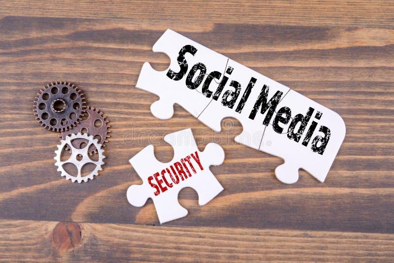 Concepto social de los medios y de la seguridad stock de ilustración