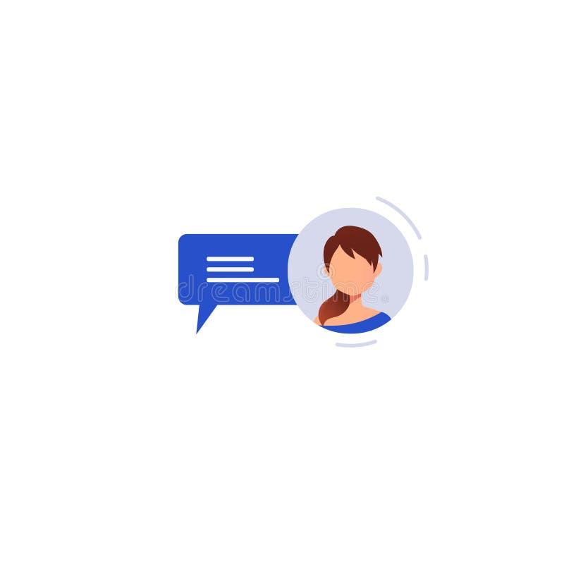 Concepto social del establecimiento de una red charla ilustración del vector