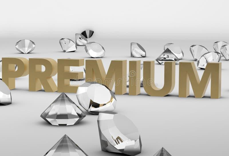 Concepto superior de los diamantes libre illustration