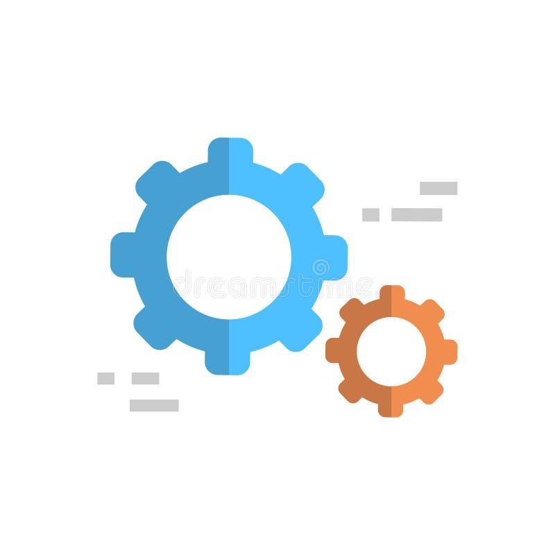 Concepto técnico de la tecnología de la ayuda de Servie del icono de la rueda dentada stock de ilustración