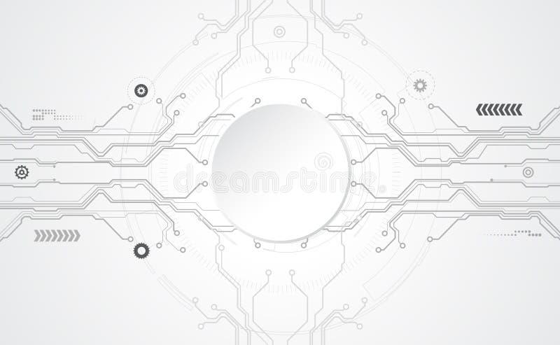 Concepto tecnológico abstracto de la comunicación del fondo stock de ilustración
