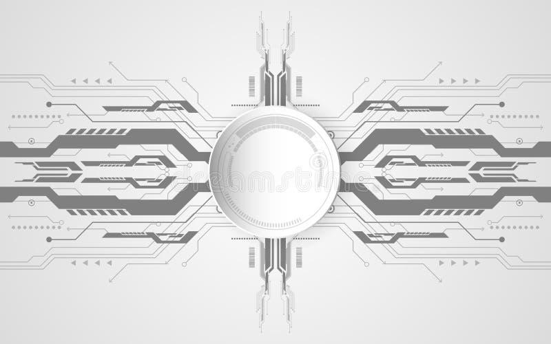 Concepto tecnológico abstracto del fondo con el diverso technolog ilustración del vector