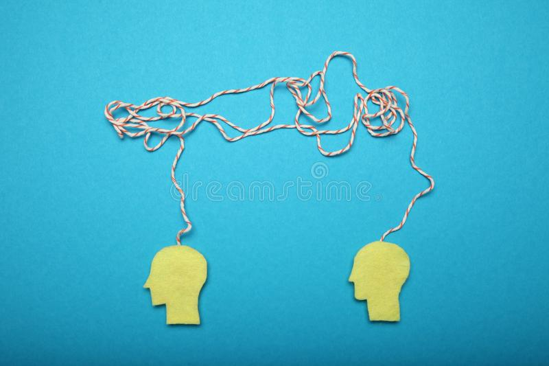 Concepto, tensión y depresión del intercambio de ideas del negocio imágenes de archivo libres de regalías