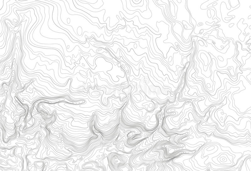 Concepto topográfico ligero del fondo del mapa de contorno del topo, ejemplo del vector stock de ilustración