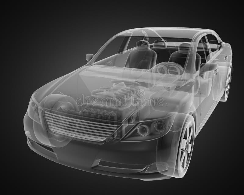 Concepto transparente del coche stock de ilustración