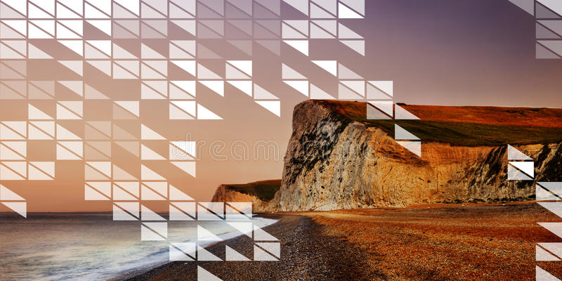 Concepto transparente del extracto del diseño del mosaico de la forma del polígono fotografía de archivo