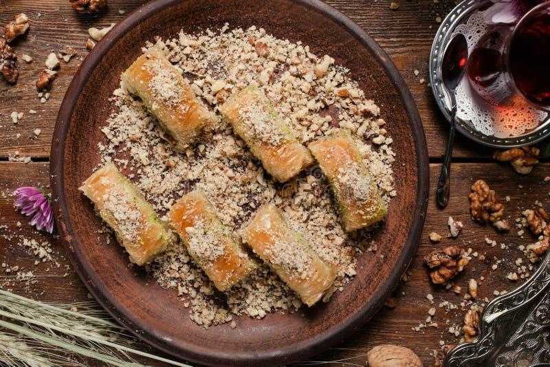 Concepto turco del té del desayuno del desssert de la comida fotografía de archivo libre de regalías
