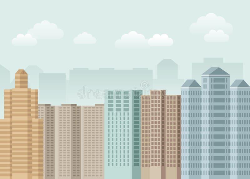 Concepto urbano del vector en estilo plano libre illustration