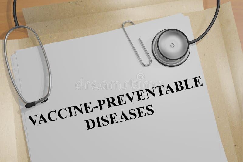 Concepto Vacuna-evitable de las enfermedades ilustración del vector