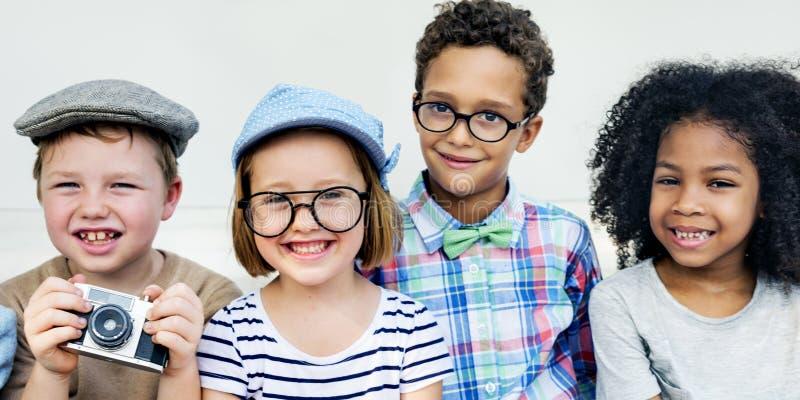 Concepto valiente del éxito de la actividad de la aspiración del niño de los niños imagen de archivo