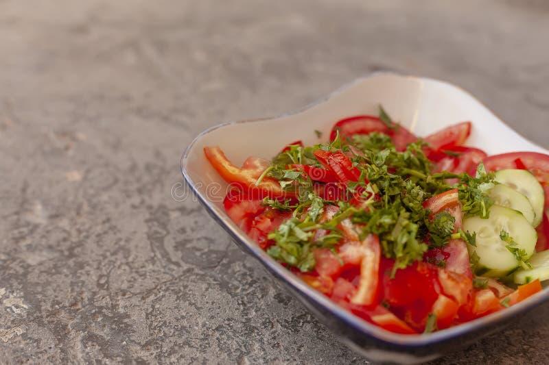 Concepto vegetariano delicioso de la comida Hace frente el espacio para el texto fotografía de archivo