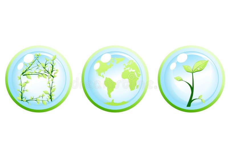 Concepto verde de la ecología stock de ilustración