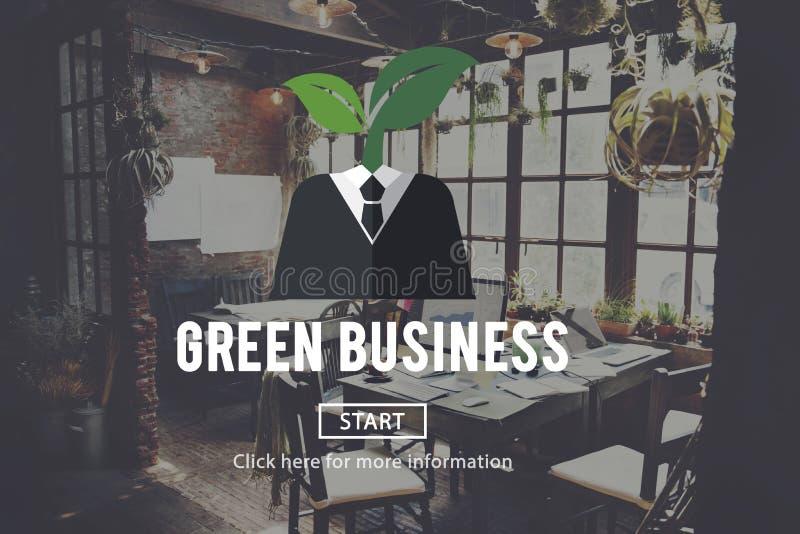 Concepto verde del ambiente de la ecología del negocio stock de ilustración