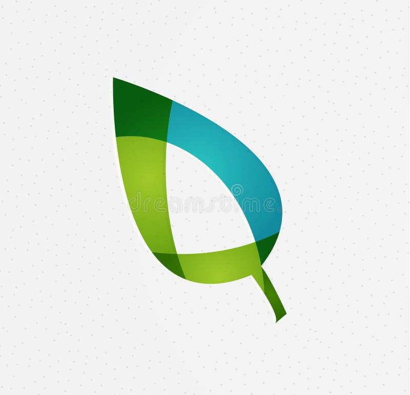 Concepto verde del vector de la hoja ilustración del vector