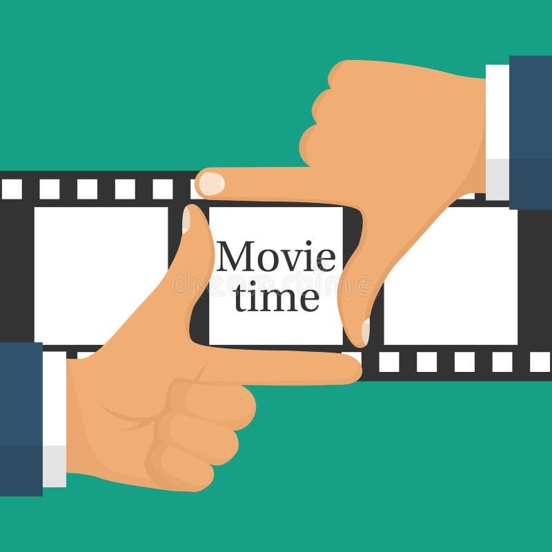 Concepto video de la película stock de ilustración
