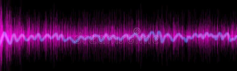 Concepto violeta del wafe del equalizador de los sonidos fotografía de archivo libre de regalías
