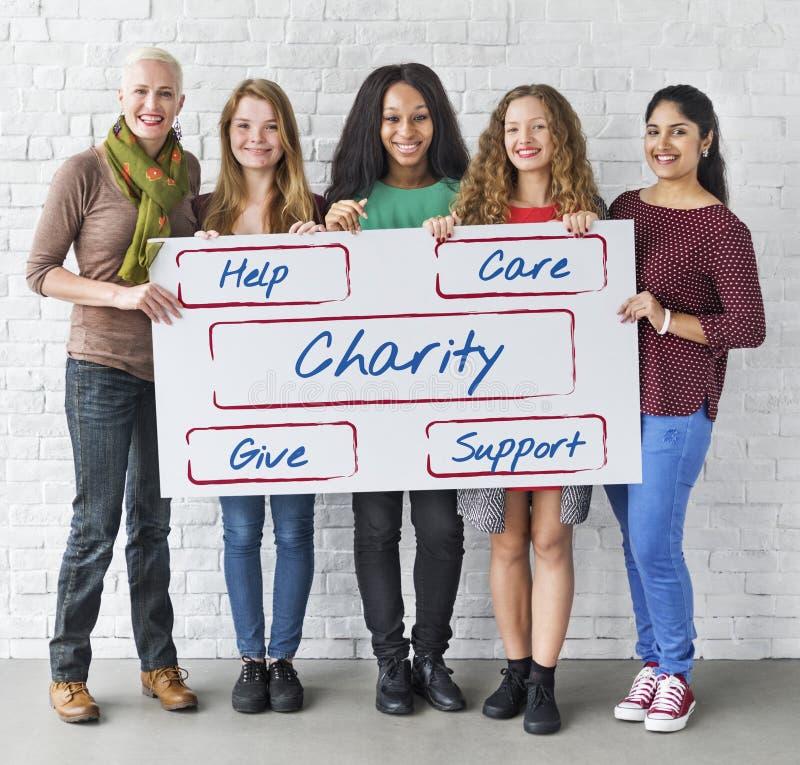 Concepto voluntario Fundraising de las donaciones de la comunidad imagenes de archivo