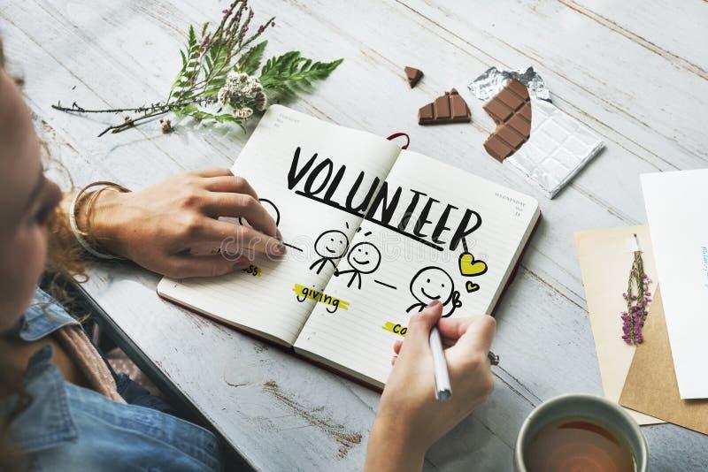 Concepto voluntario no lucrativo Fundraising de las donaciones de la caridad fotos de archivo