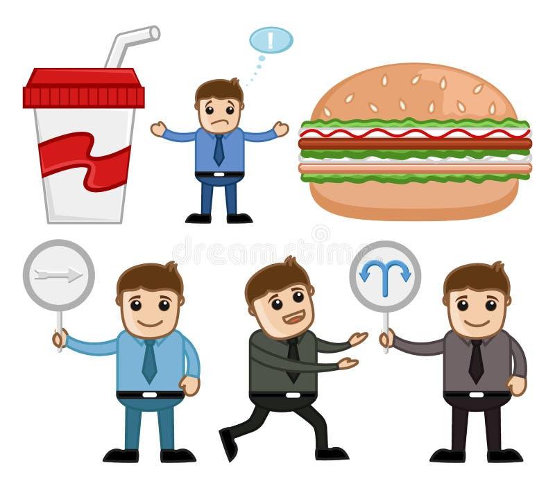 Conceptos de la comida y de la historieta de la dirección stock de ilustración