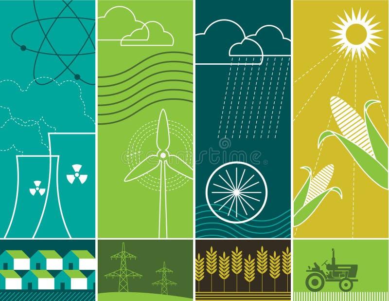 Conceptos de la energía stock de ilustración
