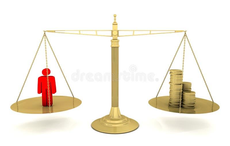 Conceptos de la escala del peso: Salarios libre illustration